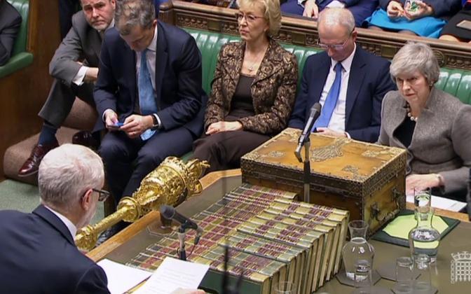 Vaidlus Briti parlamendis.