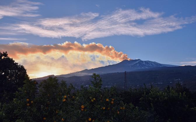 Vulkaan Etna Sitsiilias 26. detsembril.