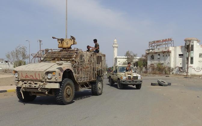 Jeemeni valitsusväelased Hodeida sadama juures 29. detsembril.