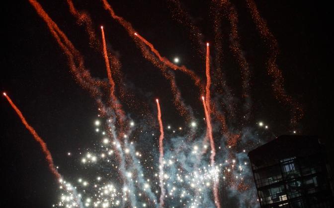 Uue aasta ilutulestik Tallinnas Vabaduse väljakul.