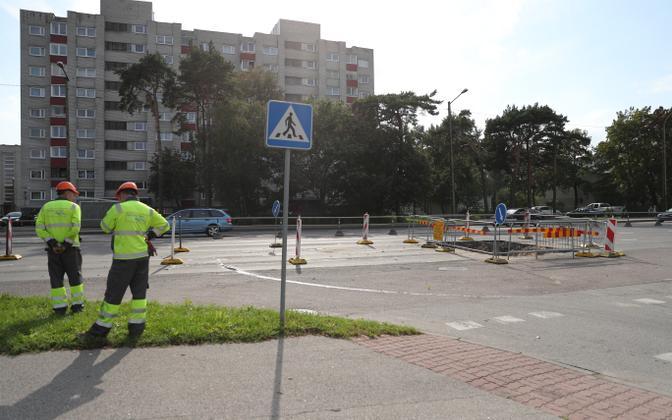 One of several water emergencies on Tallinn streets in 2018, this one happened on Paldiski highway in September.
