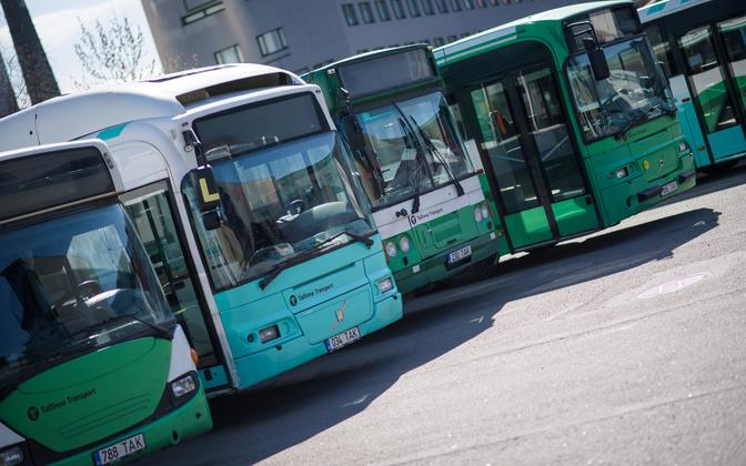 Examples of Tallinn's current rolling stock of buses.