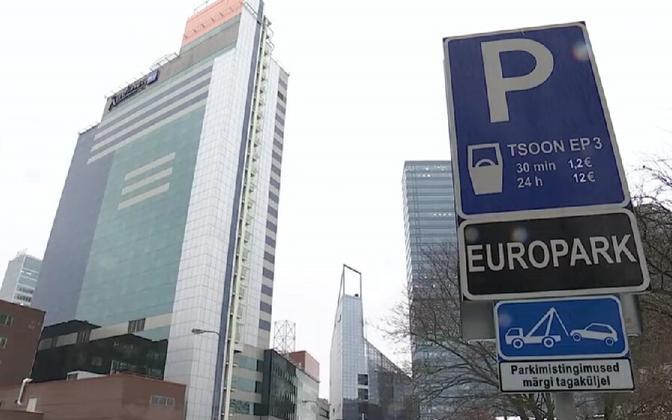 EuroPark parking sign in Central Tallinn.