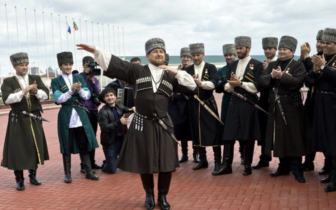 Tšetšeenia juht Ramzan Kadõrov Groznõis keelepäeva tähistamas 2011. aastal.