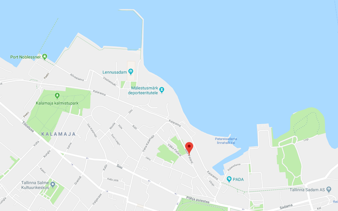 Approximate location of the new Heathmont offices in Kalamaja.