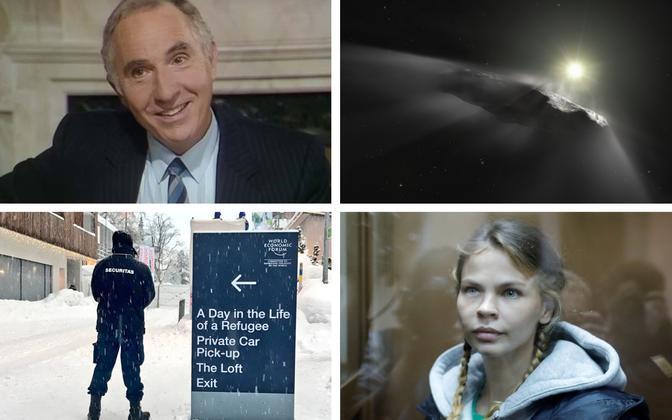 Nigel Hawthorne sir Humphrey Appleby'na (BBC), Oumuamua (NASA/AFP), foto Davosi majandusfoorumilt (Bloomberg), Nastja Rõbka (Reuters).
