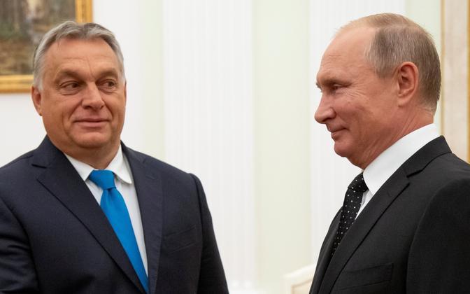 Viktor Orban ja Vladimir Putin.