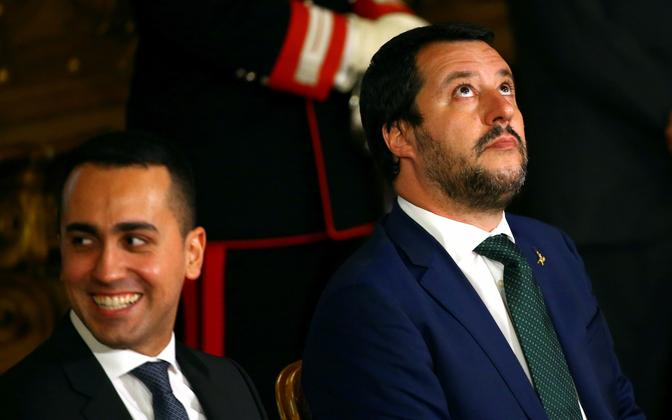 Itaalia asepeaministrid Luigi Di Maio (vasakul) ja Matteo Salvini.