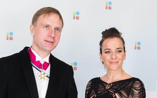 Riigikogu liige Eerik-Niiles Kross ja abikaasa Mary Kross.