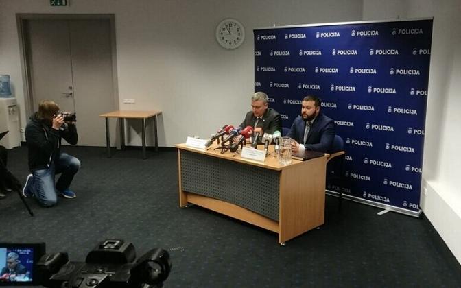 Läti politsei pressikonverents.