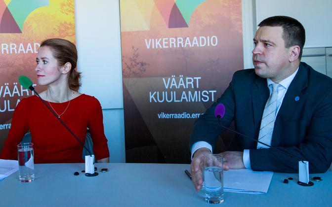 Reform Party chairwoman Kaja Kallas and Prime Minister Jüri Ratas, February 2019.