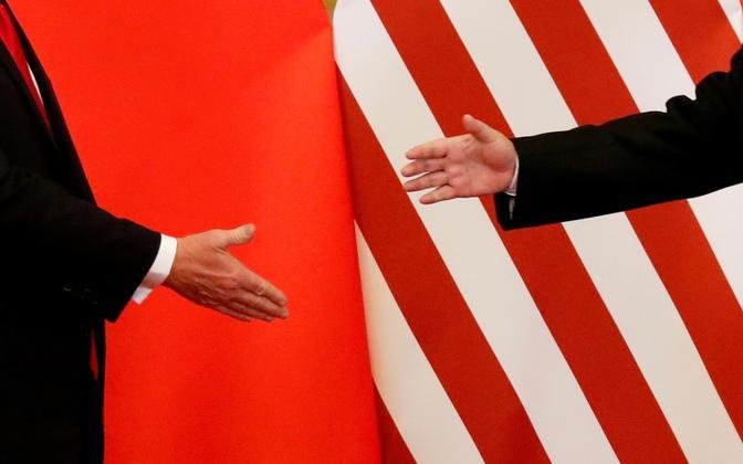 Donald Trump ja Xi Jinping tervitamas 2017. aastal.
