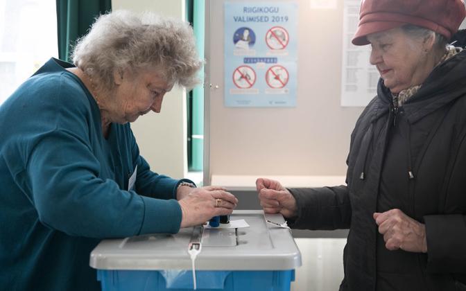 Riigikogu elections in prgress.