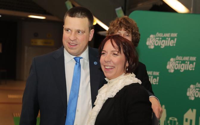 Jüri Ratas with Minister of Education Mailis Reps.