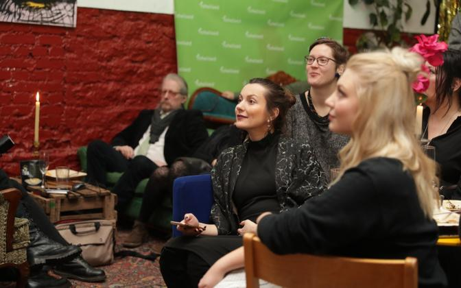 Green Party candidates and party members at election night in March.
