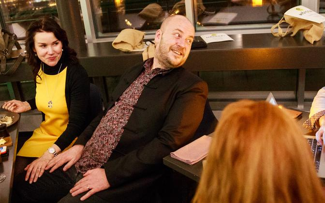 Artur Talvik at the Richness of Life election night party in March.