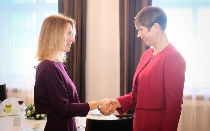 Kaja Kallas president Kersti Kaljulaidiga kohtumas