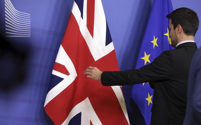Briti ja EL-i lipud.