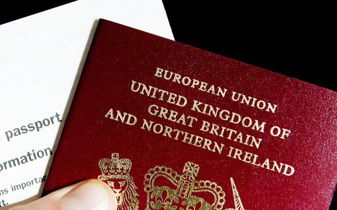 Suurbritannia kodaniku pass.