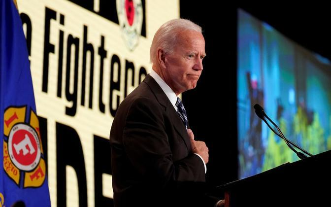 Joe Biden tuletõrjujate assotsiatsiooni üritusel Washingtonis.