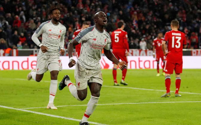 Sadio Mane lõi Liverpooli eest kaks väravat