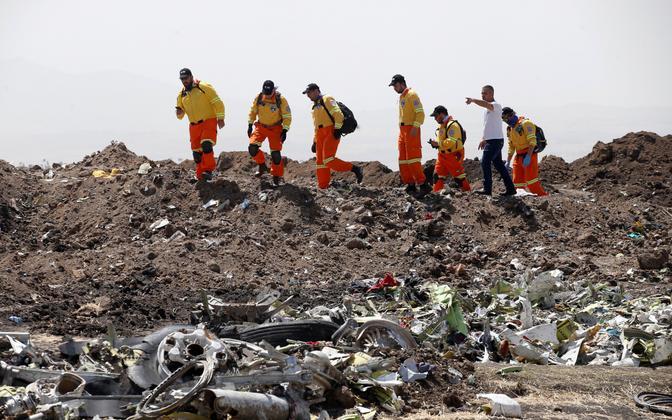 Etioopia lennukatastroofi sündmuskoht.