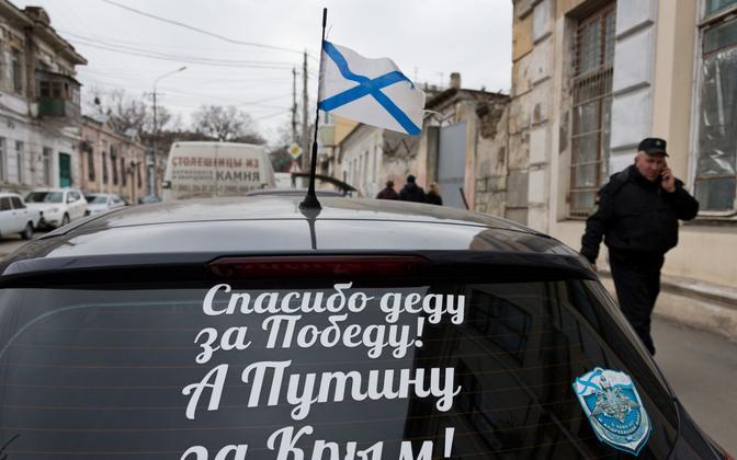 Simferoopoli autoomanik täna Putinit Krimmi liitmise eest Venemaa külge