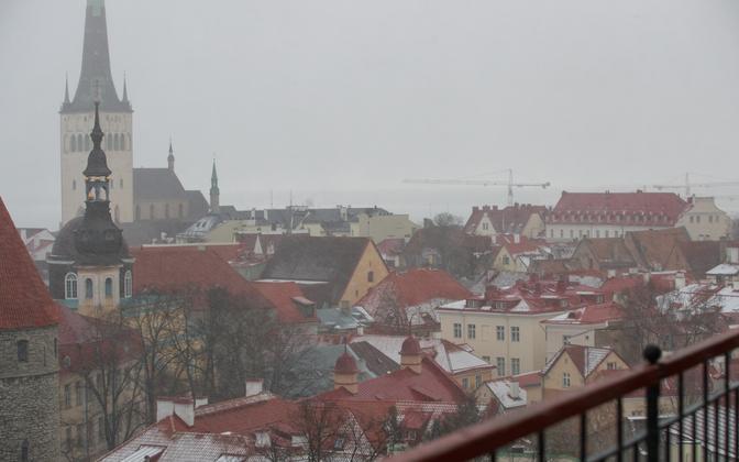 Sleet over Tallinn.