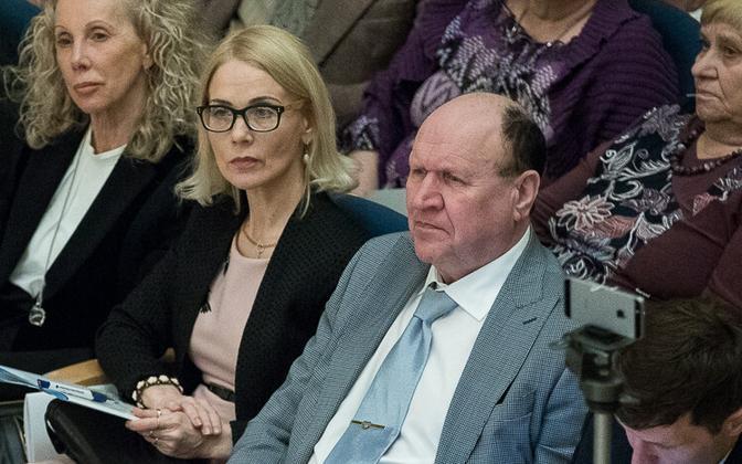 Helle-Moonika Helme, deputy chairwoman of EKRE's Women's Association, together with husband and EKRE chairman Mart Helme.
