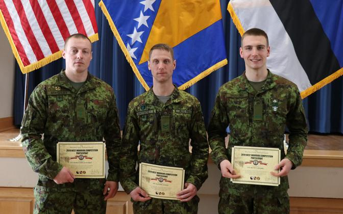 Estonian winners of the Maryland National Guard's 2019 Best Warrior Competition.