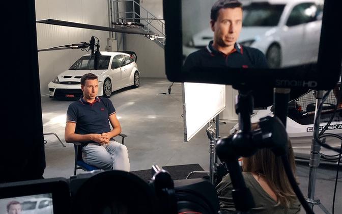 Former rally champ and Ott Tänak mentor Markko Märtin, from a scene in the upcoming movie.