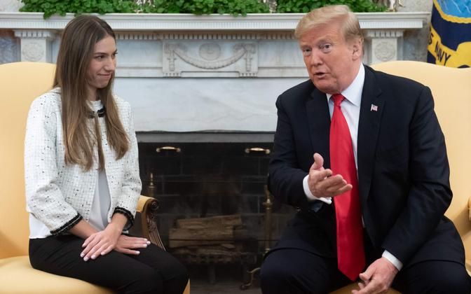 Juan Guaido abikaasat Fabiana Rosales ja USA president Donald Trump.