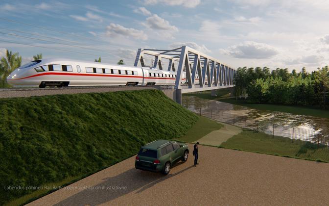 Render of a Rail Baltica train.