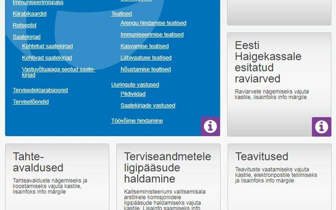 Screenshot of the nationwide patient registration system.