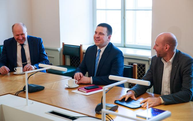 Март Хельме, Юри Ратас и Хелир-Вальдор Сеэдер, вероятно, будут членами одного правительства.