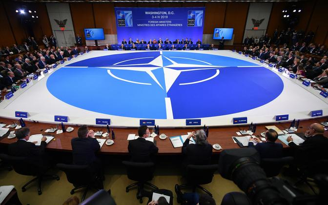 A NATO foreign ministers' meeting in Washington D.C. last year.