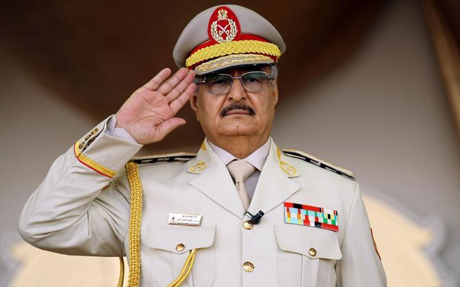Liibüa sõjapealik, kunagine feldmarssal Khalifa Haftar 2018. aastal.