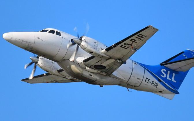 A Jetstream 32 operated by Transviabaltika. The company's contract to fly to Saaremaa expired on June 1, but it is not clear who will be awarded the next contract.