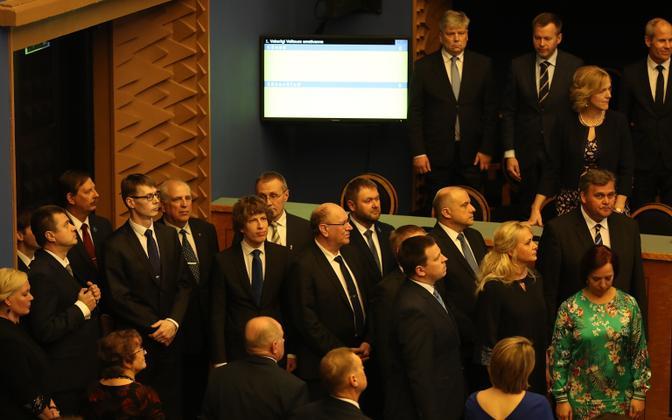 Jüri Ratas' second government was sworn in before the Riigikogu on Monday. April 29, 2019.
