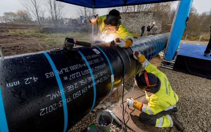 Work underway on the Balticconnector in Paldiski.