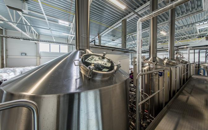 At Tanker's new brewery in Jüri.