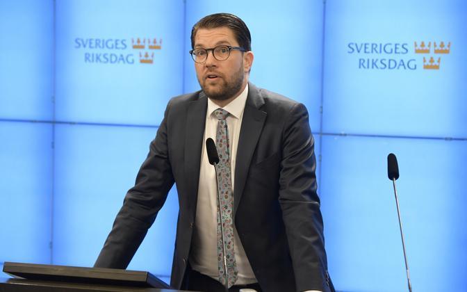 Rootsi Demokraatide juht Jimmie Akesson.