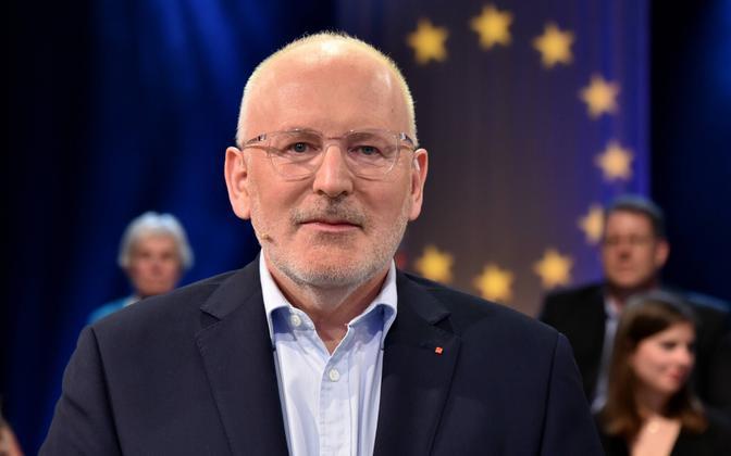 Euroopa Komisjoni esimene asepresident Frans Timmermans