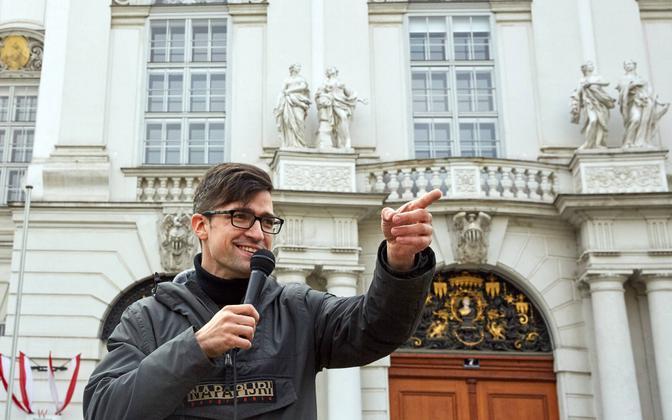 Austria aktivist Martin Sellner.