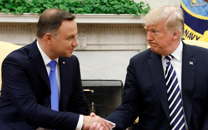 Duda ja Trump 2018. aasta septembris Valges Majas.