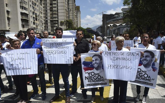 Maduro režiimi vastu protesteerijad Caracases.