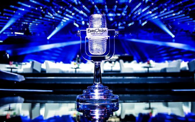 Eurovisiooni lauluvõistluse trofee.