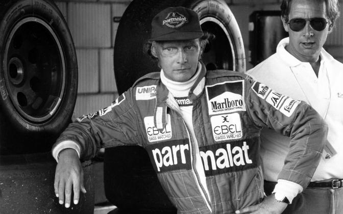 Niki Lauda in 1983, while he was driving for McLaren.