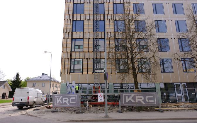 Construction in the Ülejõe district of Tartu.