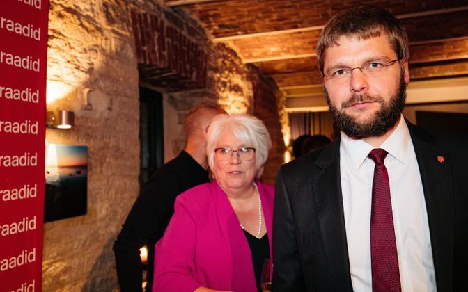 Marina Kaljurand and Jevgeni Ossinovski